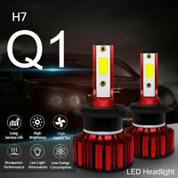 2PCS H7 All-In-One Q1 LED Phare de Voiture 50W 8000LM COB Ampoules Kit 6000K A