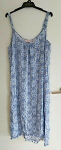 Ladies Blue Maxi Style Dress sz 14 by MILLERS