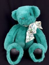 GUND Victoria's Secret 1992 Teal Green Plush Teddy Bear Limited Edition