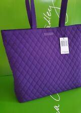 NWT VERA Bradley purple ELDERBERRY Essential Tote shoulder shopper or baby bag