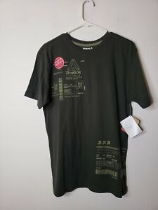 Reebok Men's Shirt Size Medium Green Workout Performance New with Tags