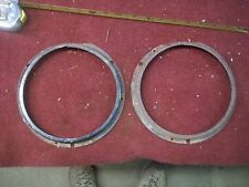 2 HEADLIGHT RETAINER RINGS MOUNT BRACKET HEADLAMP MG TD MGB MGA TF TC AUSTIN Z