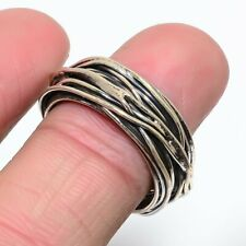 Root Ropa - Designer Plain Ethnic 925 Sterling Silver Ring Size S LS-6702