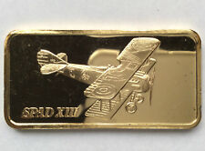 1974 Hamilton Mint SPAD XIII Silver Art Bar HAM-629G A1942