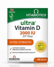 VITABIOTICS ULTRA VITAMIN D  2000IU ( D3*50MG)  EXTRA STRENGHT - 96 TABLETS