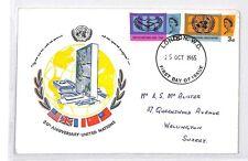 BM111 GB 1965 FDI United Nations Cover Surrey {samwells-covers}PTS