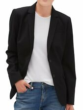 Banana Republic Womens Washable Long and Lean Black Two-Button Blazer, 4, 1371-3