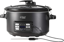 Russell Hobbs 25630 NEW Sous Vide Slow Cooker with Meat Thermometer 6.5L Black