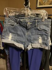 Arizona Jean Co. Women's Shorts Short Blue Size 7 Cuffed Stretch Denim Shorts.