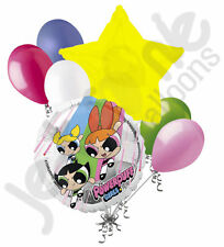 7 pc Powerpuff Girls Balloon Bouquet Party Decoration Birthday Bubbles Blossom