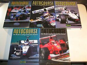 Autocourse lot of 5 1996/97 to 2000/01 Formula 1 Hill Villeneuve Hakkinen Schumi