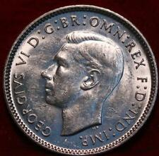 Uncirculated 1942 Australia 6 Pence Silver Foreign Coin