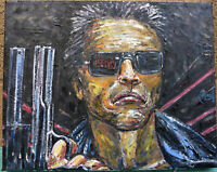 THE TERMINATOR new oil painting canvas Arnold original art 8x10 signed Crowell