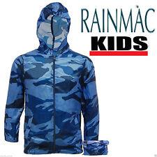 KIDS CHILDREN BOYS GIRLS RAIN MAC HOODED KAGOUL KAGOOL CAGOULE RAINCOAT FESTIVAL