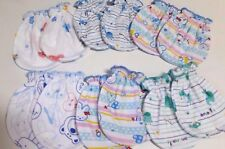 6 PAIRS COTTON MITTENS GLOVES  NEW BORN BOY BABY  CLOTHS Mix No Scratch Infant