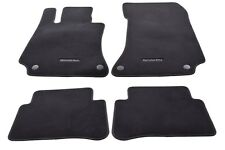 Mercedes-Benz W212 E-Class Sedan Wagon Genuine Carpet Floor Mat Set Black NEW