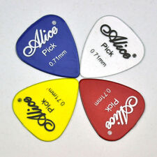 100Pcs Alice Medium 0.71mm Transparent Glossy Guitar Pick Plectrum Polycarbonate