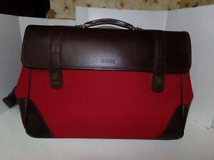 Vintage HARTMANN  Genuine Leather Canvas Duffle Travel Bag