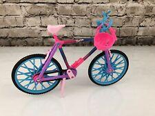 1994 Mattel Barbie Biking Fun Rainbow Bicycle and Pink Helmet