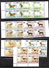Camboya. Conjunto de 4 series y Hojas Bloques de Fauna