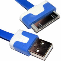 3m 30-polig Ältere Iphone Ipod Daten/Laden USB Flaches Kabel Blau Lang [006603]