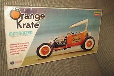 New Old Stock Lindberg Kit #681M Orange Krate Motorized 1/8 Scale
