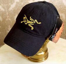 ARC'TERYX® CAP BASEBALL LOGO HAT BLACK NEW IN  PRE CURVED PEAK FULLY ADJUSTABLE