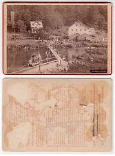 Stempfermühle bei Gößweinstein Fränkische Schweiz Kabinettfoto um 1890
