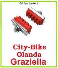 Paar Rollchuhe fahrrad City-Bike Holland Frauen Herren ANGRIFF MIT NUSS - Rot