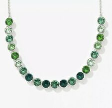 New ListingNew Touchstone Crystal by Swarovski Glimmer Green Crystal Statement Necklace