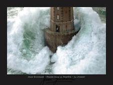 Lighthouse Phares dans la Tempete Jean Guichard Ocean Print Poster