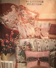 New/vintage 1990 Vogue Patterns for Living 'pillow' Pattern 7955 All Sizes