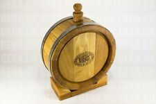 Premium Oak Barrel - JAR OAK , Wine Bottle , Whiskey Flask (0.26 gal) w/ Stand