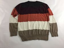 Volcom Corpo Class Men's Multi color Stripes V-Neck Long Sleeves Sweater Size M