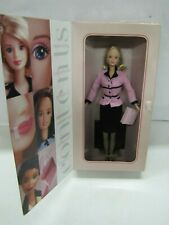 """New 1998 Mattel Barbie Doll """"AVON REPRESENTATIVE"""" Pink Suit Outfit NRFB #22202"""