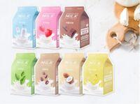 A'PIEU Milk One Pack (7 Sheets) Facial Sheet Mask Pack Korea Cosmetic