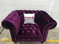 Chesterfield Fabric Armchairs