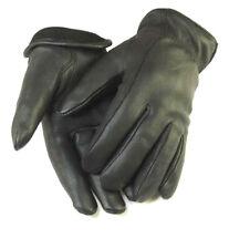 Mens Working SmartphoneTouch Screen Deerskin Black Leather Gloves