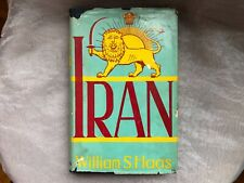 Iran William Haas Columbia Press 1946 1st Ed VINTAGE Pull Out Map Middle East
