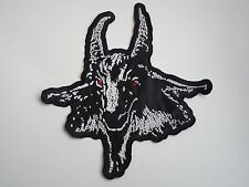 BATHORY GOATHEAD BLACK METAL EMBROIDERED BACK PATCH