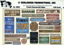 Verlinden Productions 1:35 French Commercial Signs Diorama Accessory #0023