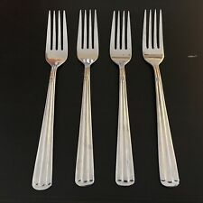 Wallace CENTENNIAL Four 4 Salad Forks Stainless Flatware 18/10