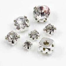 *AAA* SEW ON CLEAR CRYSTAL  RHINESTONES DIAMANTE 6 SIZES  GLASS GEMS TOP QUALITY