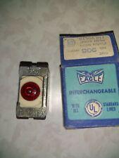1 Flush Neon Pilot Indicator Light New Old Stock Vintage Eagle