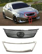 FOR LEXUS IS250 IS350 06 - 09 FRONT UPPER CENTER BUMPER GRILLE WITH CHROME FRAME