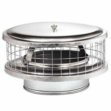 "6"" WeatherShield Guard Stainless Steel Round Chimney Cap WSA for Chimney Pipe"