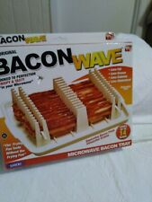 Bacon Wave Microwave Bacon Tray Cooks Up to 14 Crispy Slices - Eliminates Grease