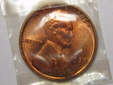 Red BU GEM 1938 Lincoln Wheat Penny (In Mint Cellophane).  #7