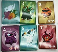 Game Parts Pieces Diamonsters IDW Games 55 Extra replacement Cards