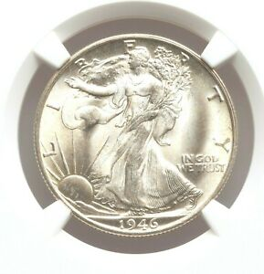 1946-S NGC MS67 Walking Liberty Silver Half Dollar Walker Bright Pastel GEM BU
